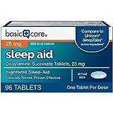 Basic Care Sleep Aid, Doxylamine Succinate Tablets, 25 mg, 96 Count