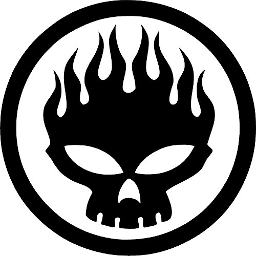 The Offspring Rock Music Band Decal Sticker - Flaming -