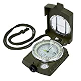 Kamtop Portable Compass Waterproof Navigation Compass with Bag Metal Sighting Compass for Hiking Camping Climbing Exploring Geology Outdoor Activities