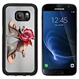 MSD Premium Samsung Galaxy S7 Aluminum Backplate Bumper Snap Case Argentine tango shoes with a rose on neutral background Image ID 27122047