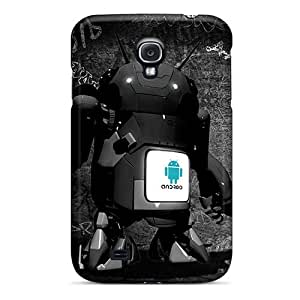 Excellent Design Android Bot Blue Case Cover For Galaxy S4