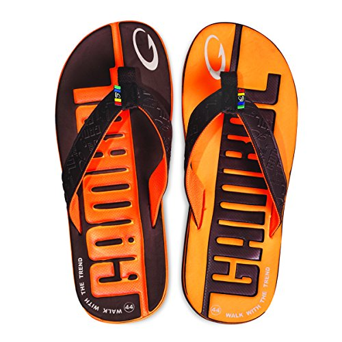 Chaussures Sandales Gambol Mens - Orange Style Zapp