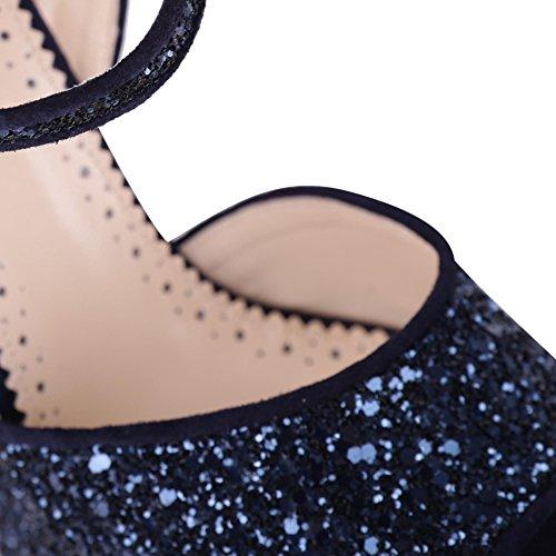 Twin Set Femme Cs8pl102177 Argent/Bleu Paillettes Sandales