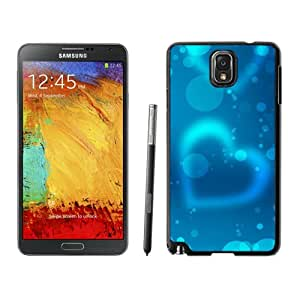 Abstract Blue Light Heart Background Hard Plastic Samsung Galaxy Note 3 Protective Phone Case