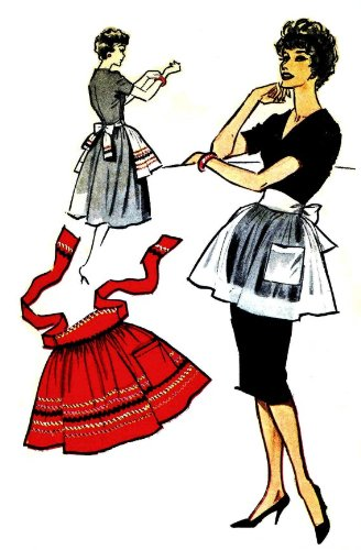 McCall's Sample Sewing Pattern Half Apron Hostess Rick Rack (Rack Rick Vintage)