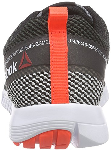 Reebok Zquick Lite Zapatillas de deporte, Mujer Negro / Gris / Rojo / Blanco (Black/Steel/Atomic Red/White/Gravel)
