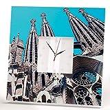 Sagrada Familia Barcelona Wall Clock Framed Mirror Catalan Gaudi Fan Printed Art Home Decor Gift