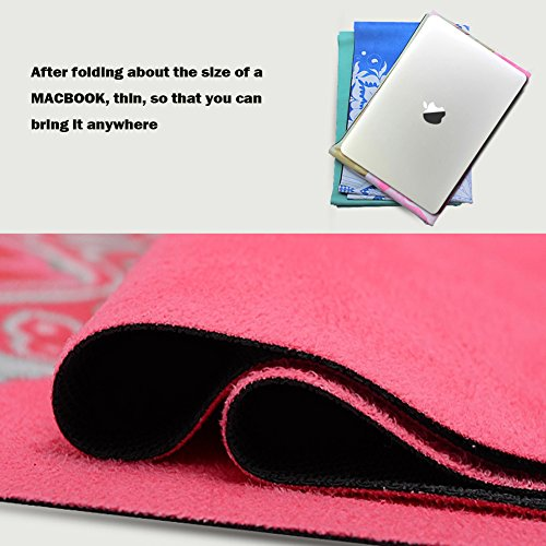 The Combo Yoga Mat Luxurious Non Slip Mat Towel: Natural Rubber Pro Yoga Mat Combo(3.5mm),Eco-friendly,Non