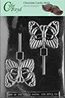 Cybrtrayd Life of the Party A088 Butterfly Lolly Chocolate Candy Mold in Sealed Protective Poly Bag Imprinted with Copyrighted Cybrtrayd Molding In