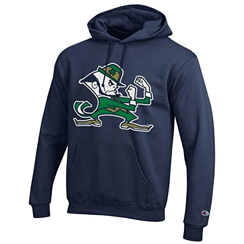 Irish Hoodie Sweatshirt Leprechaun Navy - M (Notre Dame Hoodies)