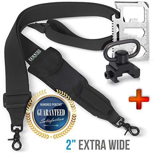 Rifle Sling Gun Sling |Ar15 Accessories Tactical Traditional ar Strap+MOUNT 2 point Extra Wide 2