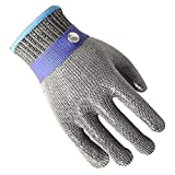 ANHPI,Cut Resistant Gloves Protection Level 5 Clothing Cutting Kitchen Gardening, Stainless Steel Wire, 1 Loaded,M