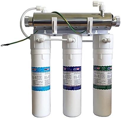 Sistema de filtro purificador de agua con lámpara UV Aquapro con 3 ...