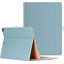 Apple iPad Pro 12.9 Case - ProCase Leather Stand Folio Case Cover for iPad Pro 12.9 Inch (Both 2017 and 2015 Models), with Multiple Viewing Angles, Auto Sleep/Wake, Apple Pencil Holder -Teal