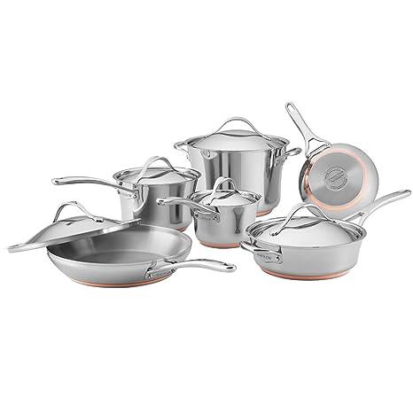 Amazon.com: Anolon Nouvelle - Batería de cocina (10 piezas ...