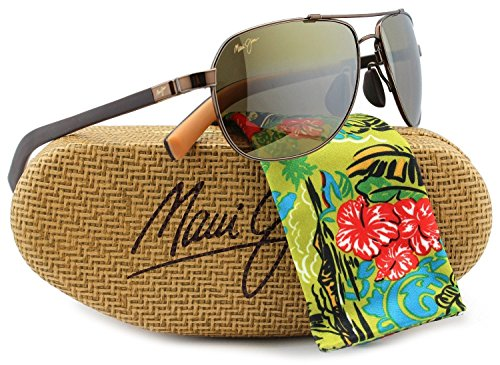 Maui Jim MJ-327-23 Guardrails Sunglasses Metallic Gloss Copper w/ HCL Bronze H327-23 58mm - Jim Mj Sport Maui