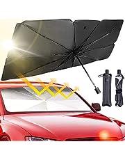 JASVIC Car Windshield Sun Shade Umbrella - Foldable Car Umbrella Sunshade Cover UV Block Car Front Window (Heat Insulation Protection) for Auto Windshield Covers Trucks Cars (Large)