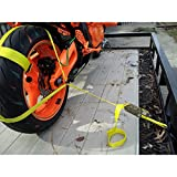 Tools - LB Tire Tie Down - Ratchet Strap - Assembly Break Strength 2,500 lbs - Working Load Limit 833 lbs - Black