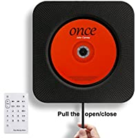 Portable CD Player, Rofeer Bluetooth Wall Mountable CD Music Player Home Audio Boombox with Remote Control FM Radio Built-in HiFi Speakers, MP3 Headphone Jack AUX Input Output, Black