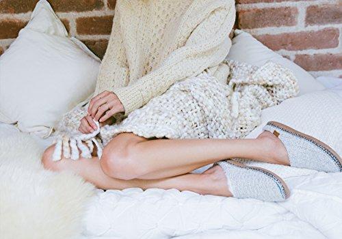 Pantofola Per Donna (maglione In Maglina Lavorato A Maglia)