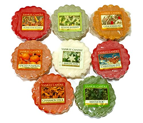 - Yankee Candle Tarts Wax Melts Sampler Pack, Winter/Holiday Scents (8 Pack)