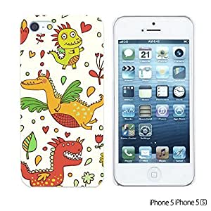 OnlineBestDigital - Cartoon Pattern Hard Back Case for Apple iPhone 5S / Apple iPhone 5 - Cartoon Dinosaur Pattern