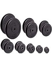 Discos para pesas de hierro fundido de C.P. Sports, 1par o 2pares de discos para pesas de 30mm; 0,5kg, 1kg, 1,25kg, 2,5kg, 5kg, 10kg, 15kg, 20kg; por pares, tamaño 2 x 15 kg Scheibe