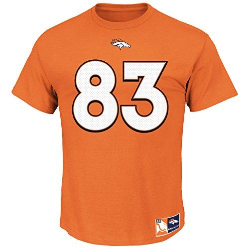 Wes Welker #83 Denver Broncos NFL Men's Eligible Receiver II Player T-shirt - Orange (XXlarge) ()