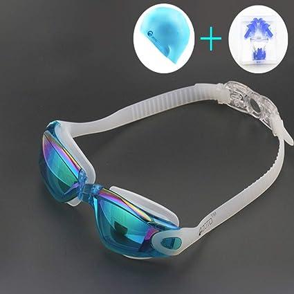 GLHLPR Gafas de natación, Traje Combinado, Gafas de natación ...