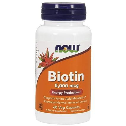 Now Foods, Biotina - 5,000mcg x60Vcaps