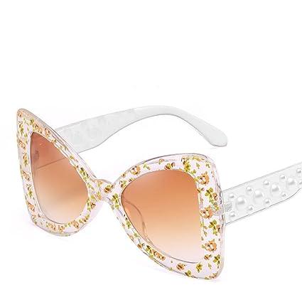 BiuTeFang Gafas de Sol Mujer Hombre Polarizadas Europeos y Americanos Gran Mariposa Nudo Gafas de Sol