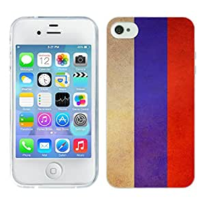 Head Case Designs Russia Russian Vintage Flags Soft Gel Back Case Cover for Apple iPhone 4 4S