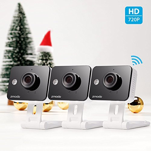 Zmodo 720p HD WiFi Wireless Home Security Camera System Two-Way Audio Night Vision Motion Alerts 115 Degree Viewing Angle (3Pack) [並行輸入品] B01NAP4WVS