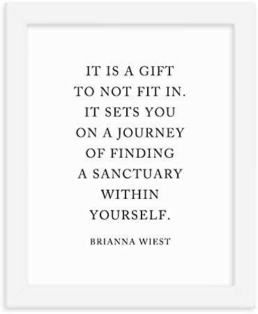 Amazon Com Sanctuary Within Brianna Wiest Quote Framed Print Posters Prints