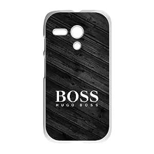 Motorola G White Cell Phone Case Hugo Boss Brand Logo Custom Case Cover A11U527461