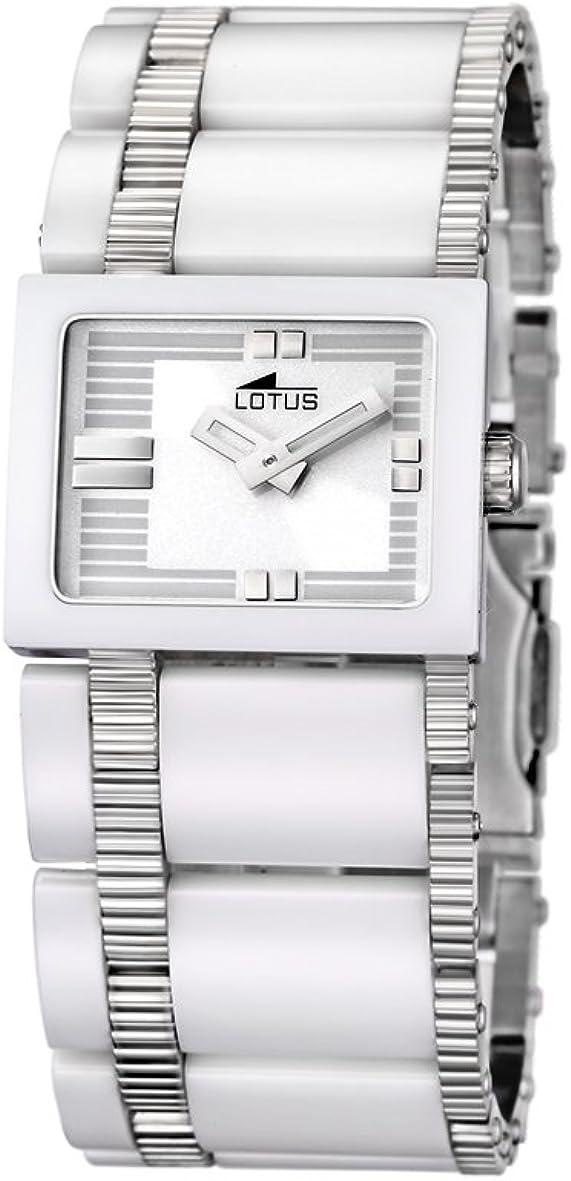 Lotus 15597/1 - Reloj de mujer de cuarzo, correa de cerámica