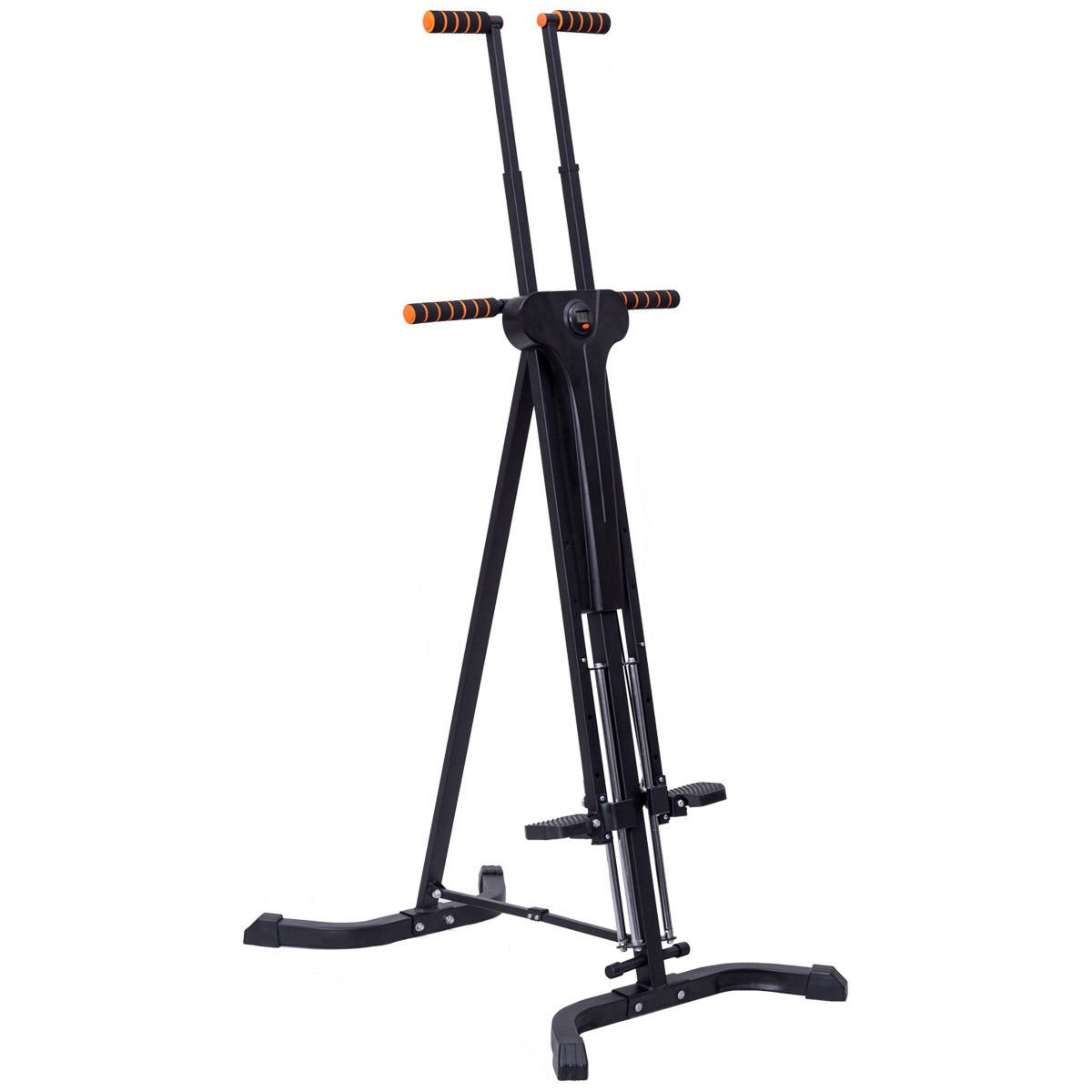 Goplus Vertical Climber Folding Stepper Adjustable Height with LED Display Climbing Fitness Workout Machine Home Gym