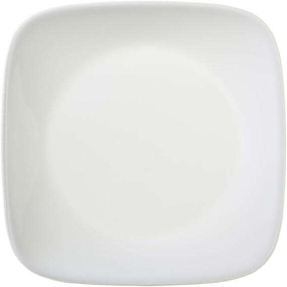 Corelle Pure White Square Bread /& Butter Plate