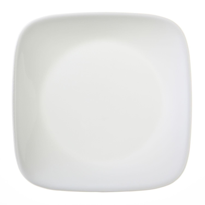 """Corelle Square Pure White 6-1/2"""" Plate (Set of 4)"""