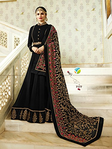 New 04 Black Pakistani Designer Suit Party Wear Delisa Indian Georgette Anarkali Maisa vwHFqRvdgx