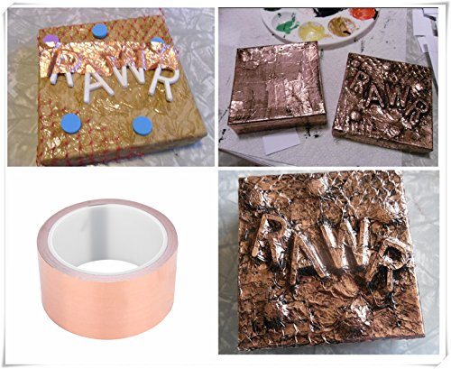 Copper Foil Tape with Conductive Adhesive Single-sided Strong Durable Multi-Use Guitar Copper Tape, EMI Shielding, Stained Glass, Paper Circuits,Electrical Repairs, Grounding (20m) by Vbestlife (Image #7)