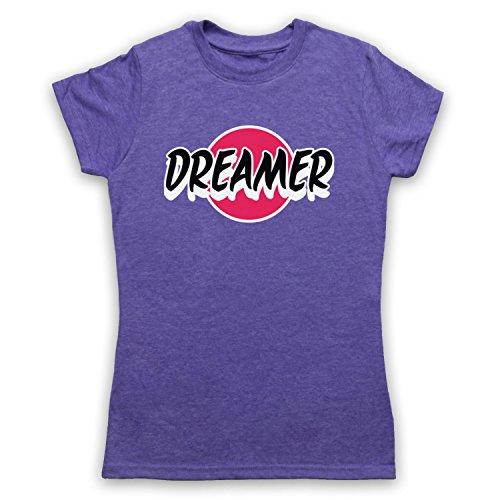 Dreamer Hipster Camiseta para Mujer Morado Clásico