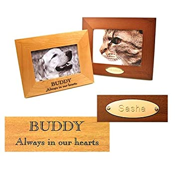 personalized picture frame custom engraved wood frame 5x7 available in natural alder or