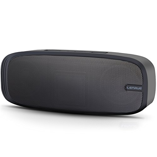 LENRUE Portable Bluetooth Speakers,Wireless Speaker with Outdoor and Indoor Stereo Sound and Enhanced Bass, Built-in Dual Driver with Build-in Mic,Hands-Free Call,AUX Line,and TF Card for iPhone/ipad