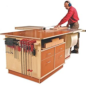 cabinet table saw taunton press woodworking tablesaw outfeed cabinet 13062