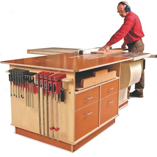 Taunton Press Fine Woodworking Tablesaw Outfeed Cabinet Plan