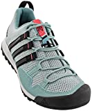 adidas outdoor Womens Terrex Solo Shoe (8 - Vapour Steel/Black/Tactile Pink)