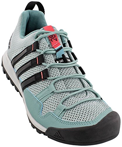 adidas outdoor Womens Terrex Solo Shoe (8 - Vapour Steel/Black/Tactile Pink) by adidas outdoor