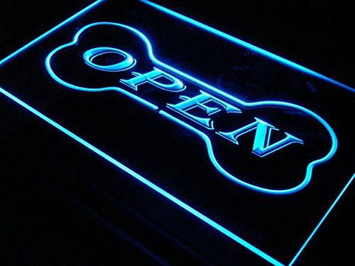 OPEN Dog Bone Shop Pet LED Sign Neon Light Sign Display (Pets Led Sign)