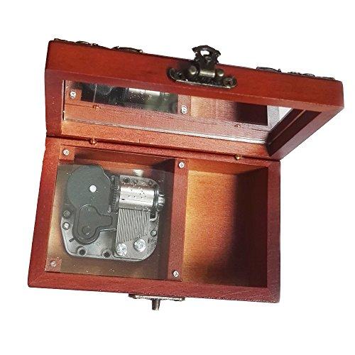 FnLy - Caja de música de Madera con 18 Notas Antiguas de Encaje, Caja de música de tamaño pequeño, Caja de música con...
